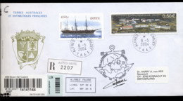 French Antarctic Territory 2004 Ship, Alfred Fauvre Base Cover - French Southern And Antarctic Territories (TAAF)