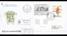 French Antarctic Territory 2003 Penguin Isle, Explorer Cover - French Southern And Antarctic Territories (TAAF)