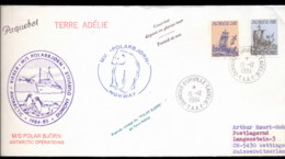 French Antarctic Territory 1984 Polar Bear Voyage, Norway Cover - French Southern And Antarctic Territories (TAAF)