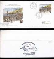 French Antarctic Territory 2000 Penguin Colony, Penguins Cover - French Southern And Antarctic Territories (TAAF)