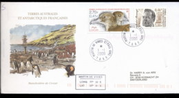 French Antarctic Territory 2000 Bird, Puffin, Explorer Cover - French Southern And Antarctic Territories (TAAF)