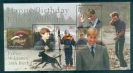 South Georgia 2000 Prince Willian 18th Birthday MS MUH Lot76472 - South Georgia