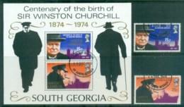 South Georgia 1974 Churchill + MS FU Lot77979 - South Georgia