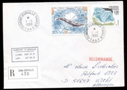 French Antarctic Territory 1996 Marine Life, Whale, Minerals Cover - French Southern And Antarctic Territories (TAAF)