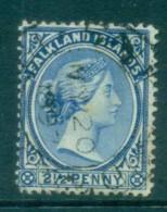 Falkland Is 1891-1902 2.5d Ultramarine FU Lot77586 - Falkland Islands