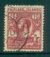 Falkland Is 1929-31 KGV& Penguin 6d Violet FU Lot77643 - Falkland Islands