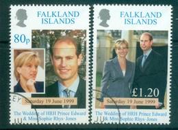 Falkland Is 1999 Royal Wedding Edward & Sophie FU Lot77908 - Falkland Islands