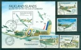 Falkland Is 1990 Spitfires + MS FU Lot77852 - Falkland Islands