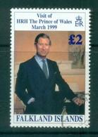 Falkland Is 1999 Prince Charles Visit FU Lot77907 - Falkland Islands