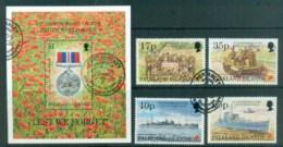 Falkland Is 1995 WWII Anniv. + MS FU Lot77884 - Falkland Islands