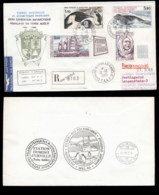 French Antarctic Territory 1985 35th Antarctic Expedition, Bird, Seal, Ship, Explorer Cover - French Southern And Antarctic Territories (TAAF)