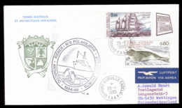 French Antarctic Territory 1985 35th Antarctic Expedition, Seal, Ship, Explorer Cover - Terres Australes Et Antarctiques Françaises (TAAF)