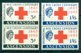 Ascension Is 1963 Red Cross Pair MUH Lot66123 - Ascension