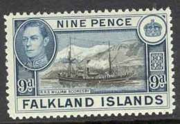 Falkland Is 1938 9d RSS W. Scoresby MUH Lot7064 - Falkland Islands