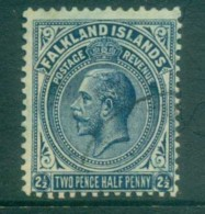 Falkland Is 1921-29 KGV 2.5d Dark Blue FU Lot77632 - Falkland Islands