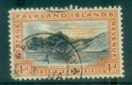 Falkland Is 1933 KGV 4d South Georgia FU Lot77658 - Falkland Islands