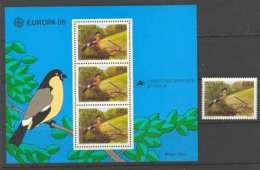 Azores 1986 EUROPA + MS MUH Lot7388 - Terres Australes Et Antarctiques Françaises (TAAF)