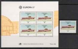 Azores 1987 EUROPA + MS MUH Lot7391 - Terres Australes Et Antarctiques Françaises (TAAF)