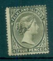 Falkland Is 1895 4d Olive Grey FU Lot77571 - Falkland Islands