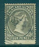 Falkland Is 1895 4d Olive Grey FU Lot77572 - Falkland Islands