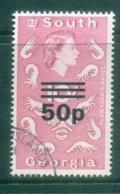 South Georgia 1971-72 QEII Definitives Surcharges 50p On 10/- (ordinary Paper)FU Lot77995 - South Georgia