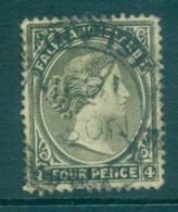 Falkland Is 1895 4d Olive Grey FU Lot77589 - Falkland Islands