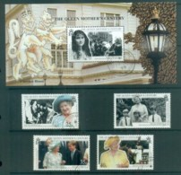 South Georgia 1999 Queen Mother 100th Birthday + MS FU Lot78029 - South Georgia