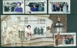 Falkland Is 1999 Queen Mother Century + MS FU Lot77910 - Falkland Islands