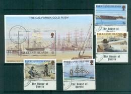 Falkland Is 1999 California Gold Rush + MS FU Lot77912 - Falkland Islands