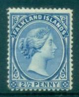Falkland Is 1891-1902 2.5d Ultramarine MH Lot77598 - Falkland Islands