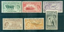 Falkland Is 1955-57 QEII Pictorials FU Lot77710 - Falkland Islands