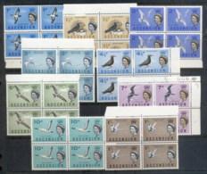 Ascension Is 1963 QEII Pictorials, Birds To 1/- Blk4 MUH - Ascension (Ile De L')