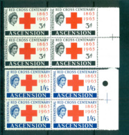 Ascension Is 1963 Red Cross Blk 4 MUH Lot66125 - Ascension