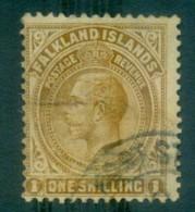 Falkland Is 1921-29 KGV 1/- Bister Brown FU Lot77634 - Falkland Islands