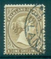 Falkland Is 1891-1902 1/- Bister Brown FU Lot77594 - Falkland Islands