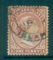Falkland Is 1894 1d Bright Claret FU Lot77569 - Falkland Islands