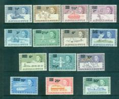 BAT 1971 Decimal Opts MLH Lot66248 - British Antarctic Territory  (BAT)