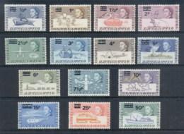 BAT 1971 QEII Pictorials Opt New Currency MLH - British Antarctic Territory  (BAT)