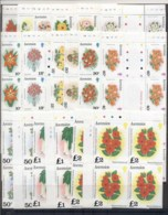 Ascension Is 1981 Pictorials, Flowers 8sets, 1-40c Blk8, 50-?2 Blk4 MUH - Ascension