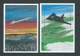 Nevis 1998 Famous Aircraft Concorde & F117 Fighter Miniature Sheets MNH - St.Kitts And Nevis ( 1983-...)