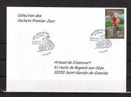 """"""" 100° TOUR DE FRANCE / BASTIA / CORSE """" Sur Env.1er Jour De 2013. Collection """" CACHETS PREMIER JOUR """" N°YT 4756 FDC - Cyclisme"""