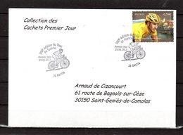 """"""" 100° TOUR DE FRANCE / BASTIA / CORSE """" Sur Env.1er Jour De 2013. Collection """" CACHETS PREMIER JOUR """" N°YT 4755 FDC - Cyclisme"""
