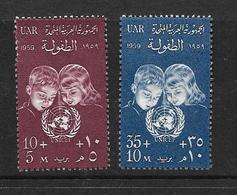 EGYPTE 1959 JOURNEE DES NATIONS-UNIES YVERT N°467/68  NEUF MNH** - Egypt