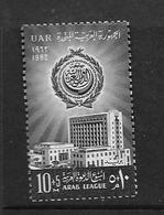 EGYPTE 1962 LIGUE ARABE  YVERT N°524  NEUF MNH** - Égypte