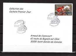 """"""" 100° TOUR DE FRANCE / PORTO-VECCHIO / CORSE """" Sur Env 1er Jour De 2013 Collection CACHETS PREMIER JOUR N°YT 4762 FDC - Cyclisme"""