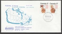 1979  Postal Code  Sc 815-6  GRANDPEX, Cambridge ON Cachet - Omslagen Van De Eerste Dagen (FDC)