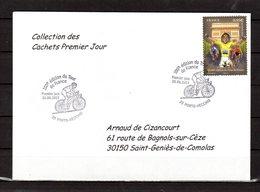 """"""" 100° TOUR DE FRANCE / PORTO-VECCHIO / CORSE """" Sur Env 1er Jour De 2013 Collection CACHETS PREMIER JOUR N°YT 4761 FDC - Cyclisme"""