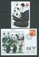 Nevis 1997 Panda Bear Hong Kong Sheet Of 6 & Miniature Sheet MNH - St.Kitts And Nevis ( 1983-...)
