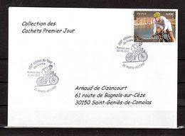 """"""" 100° TOUR DE FRANCE / PORTO-VECCHIO / CORSE """" Sur Env 1er Jour De 2013 Collection CACHETS PREMIER JOUR N°YT 4760 FDC - Cyclisme"""