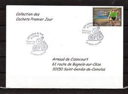 """"""" 100° TOUR DE FRANCE / PORTO-VECCHIO / CORSE """" Sur Env 1er Jour De 2013 Collection CACHETS PREMIER JOUR N°YT 4759 FDC - Cyclisme"""